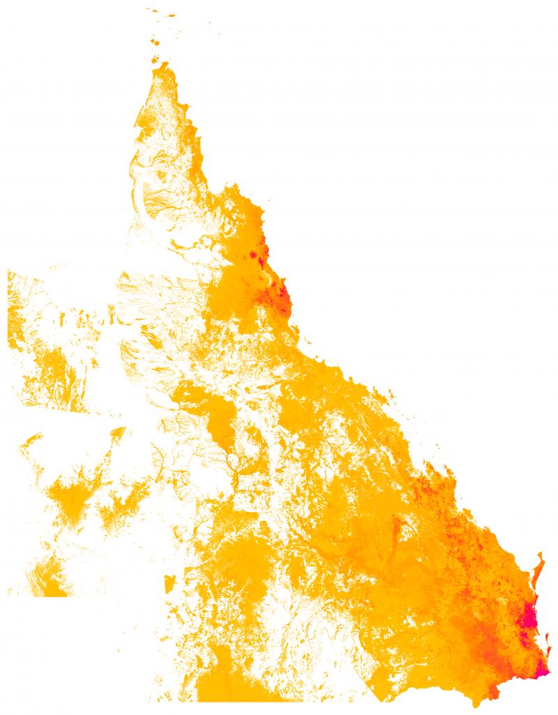 Figure 1: Pre-clear density of threatened flora habitat.