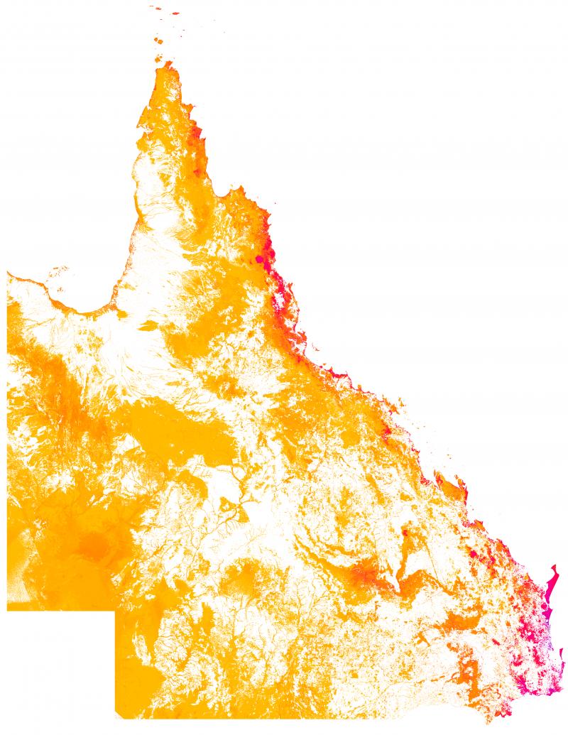 Figure 2: Density of remnant threatened fauna habitat, 2017.