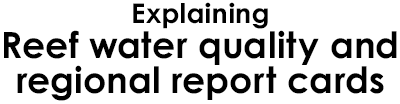 Explaining Reef water quality and regional report cards Logo