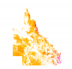 Density of threatened fauna habitat, 2015