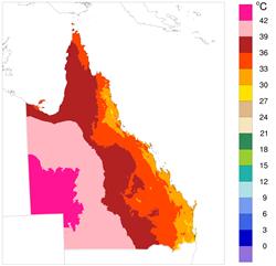 Highest maximum monthly air temperature, 2012-2015